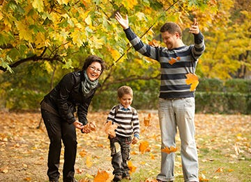 Enjoy playing in the leaves this Autumn during the October Half-Term